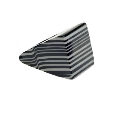 Jackie Brazil Large Square Ring in Black & White Liquorice Mix